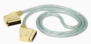 Kabel SCART EURO 1,5m Gold Metal Ekran HQ THOMSON