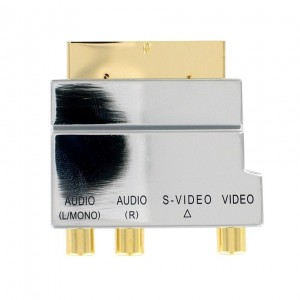 Adapter EURO - 3 RCA AV + S-Video Metal HQ THOMSON