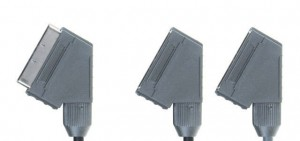 Adapter 1x SCART M - 2x SCART F 0,6m. BANDRIDGE