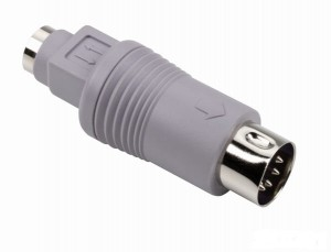 Adapter PS/2 Mini DIN 6-pin F / XT-AT 5-pin DIN M