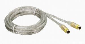 Kabel S-VIDEO SVHS 5m. Gold24k OFC 2xEkran THOMSON