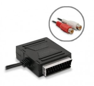Adapter SCART wt - SCART gn + 2 RCA gn audio L/P